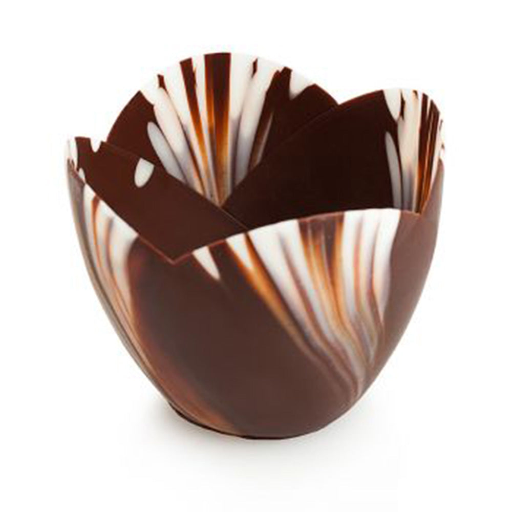 Papagino Medium Tulip Marbled Chocolate Cup