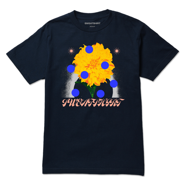 The FLOWER NAVY TEE from SWEATSHIRT by EARL SWEATSHIRT