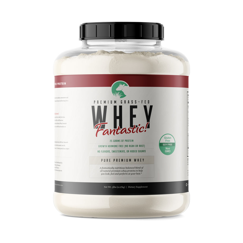 Whey Fantastic! - Unflavored Premium Grass Fed Whey Protein | Bulk -  5lb - 75 Servings