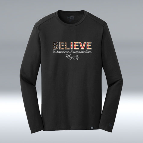 Believe Performance Long Sleeve, New Era, Black