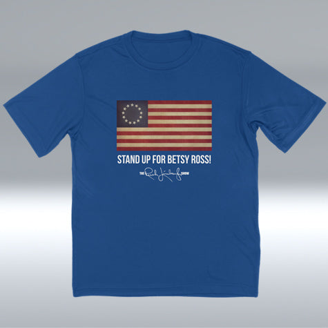 Betsy Ross Flag T-shirt, Royal Blue