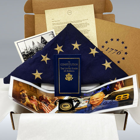 Betsy Ross Commemorative Gift Set Signed by Rush