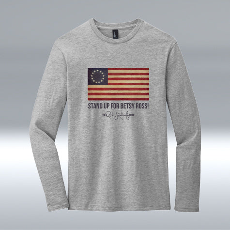 Betsy Ross Cotton Long Sleeve, Heather Grey