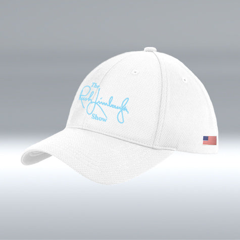 The Rush Limbaugh Show Hat White/Light Blue