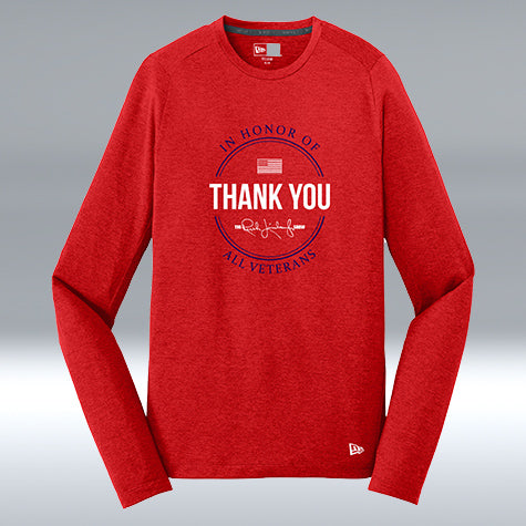"Thank You Veterans Long Sleeve ""T"" Scarlet"