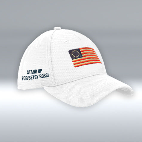Betsy Ross Flag Hat, New Era, White