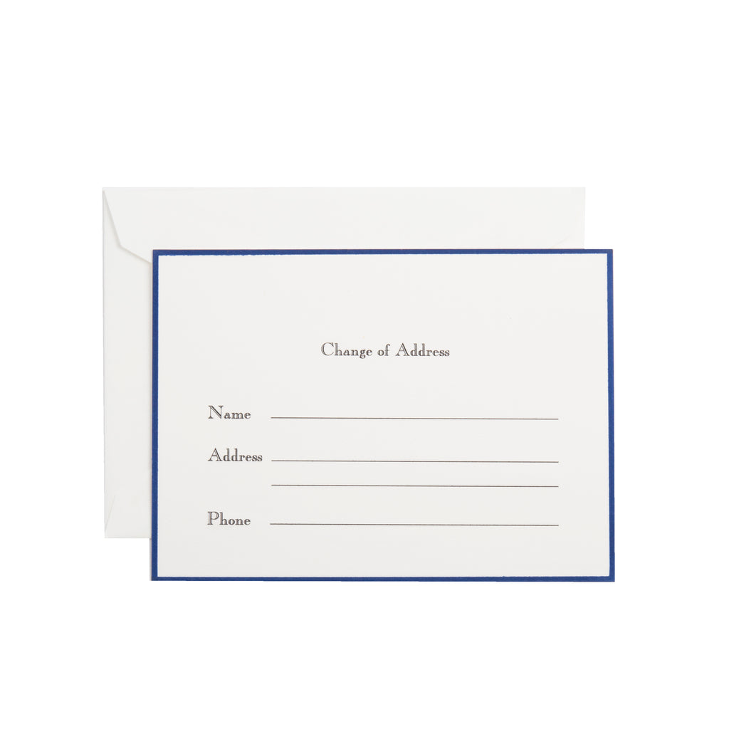 CHANGE OF ADDRESS CARD (SEE MORE COLORS)