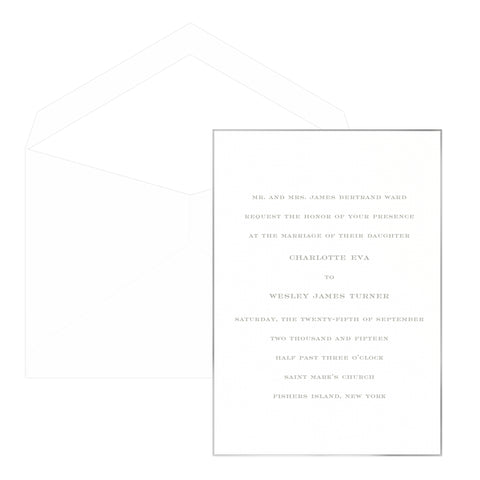 Edge Treatment Wedding Invitation