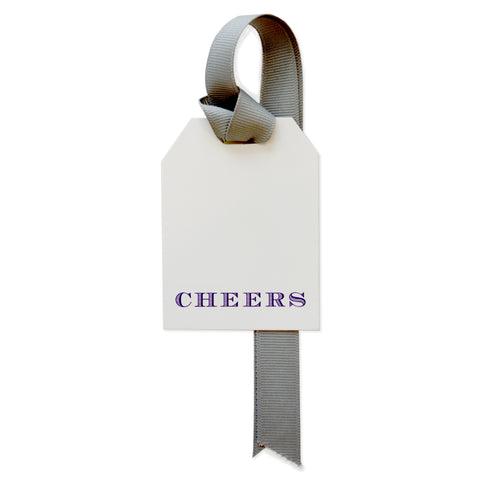 CHEERS IN CHEVALIER GIFT TAG SET