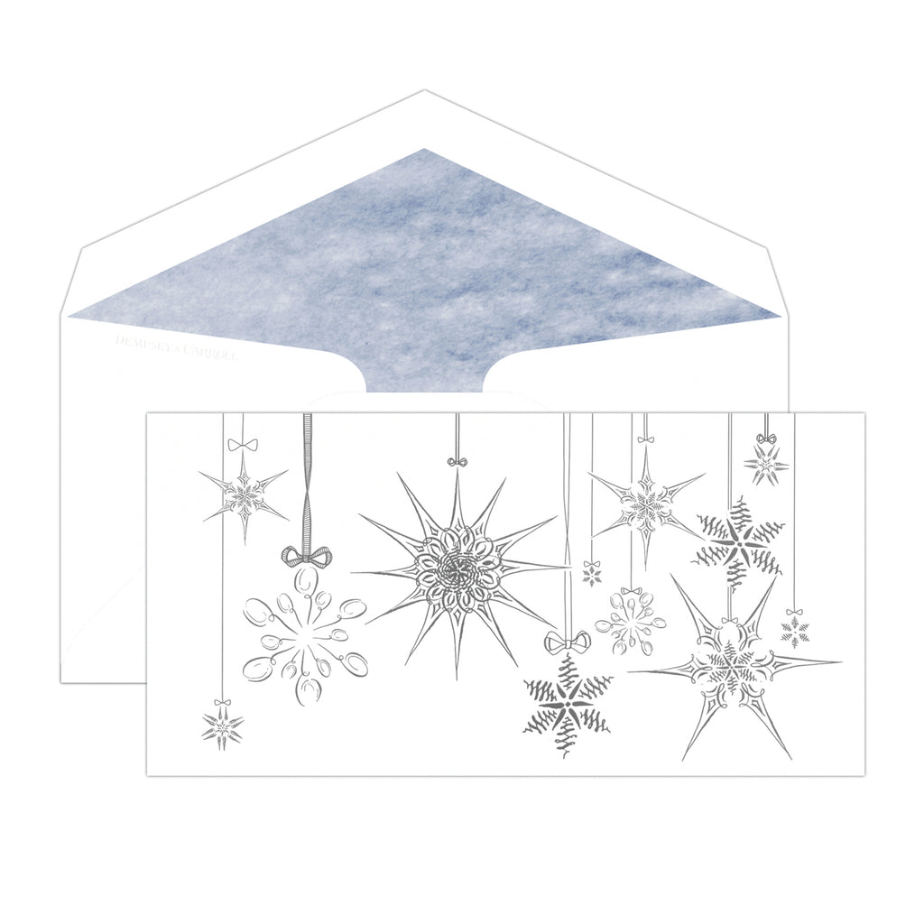 Pen & Ink Snowflake Ornament Card