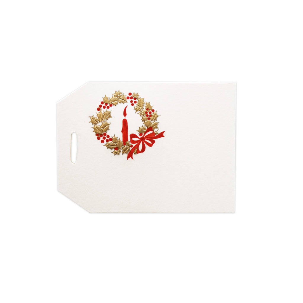 Gold Wreath Gift Tag