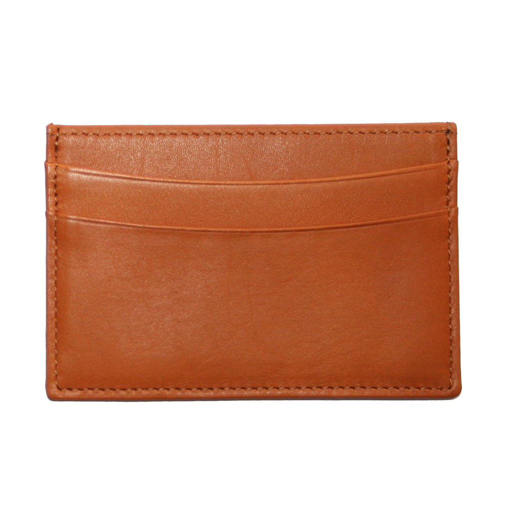 Slim Business Card Case in Tan