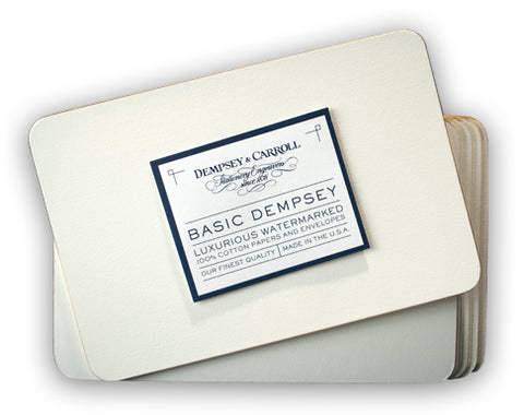 BASIC DEMPSEY GRAND ENTERTAINING CARDS WITH SILVER BEVEL