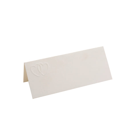 EMBOSSED DOUBLE HEARTS FOLDOVER PLACE CARDS