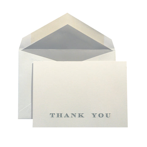 Thank You in Gray on Gray