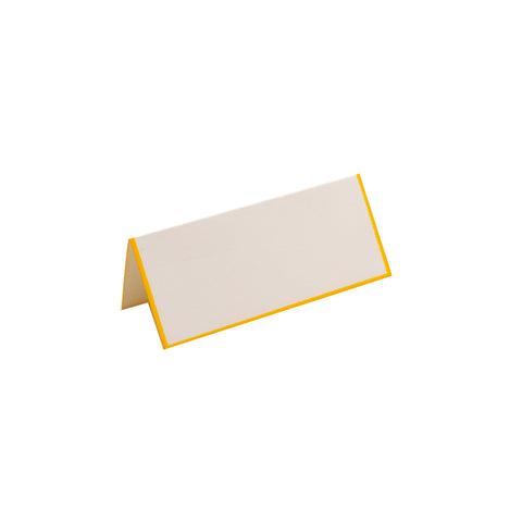 YELLOW BORDERED FOLDOVER PLACE CARDS