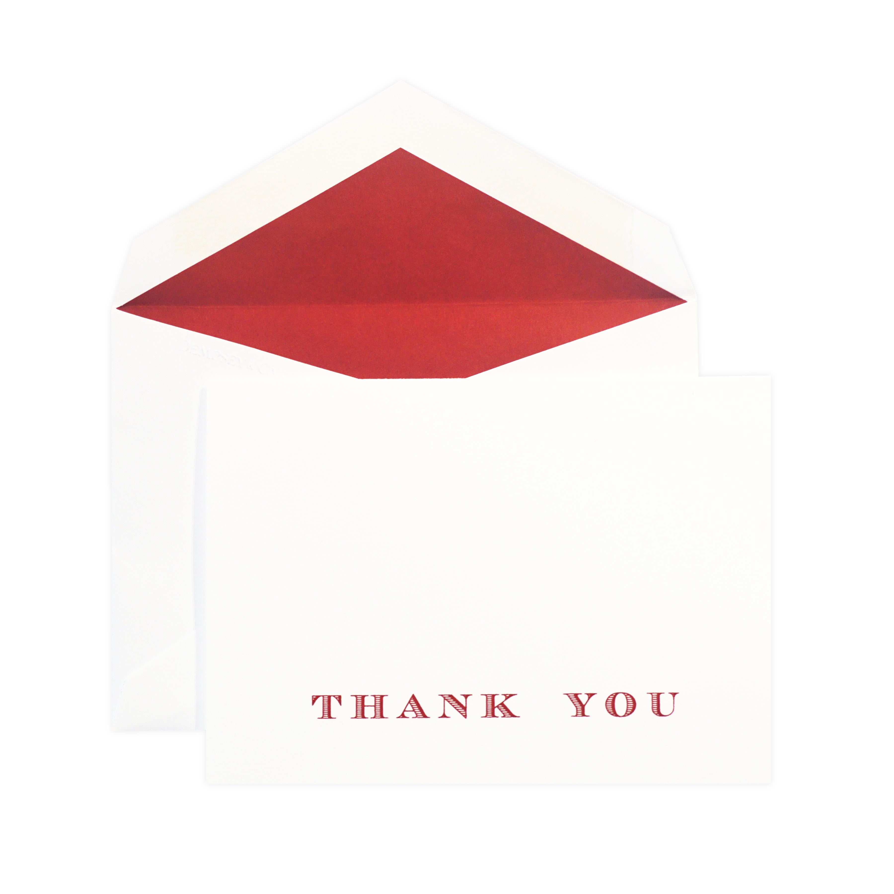THANK YOU IN VIVA RED ON WHITE