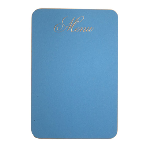 SCRIPTED MENU CARD IN DEMPSEY BLUE