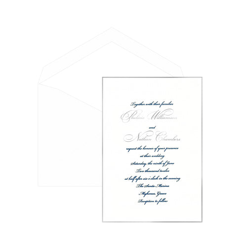 Gilded Wedding Invitation