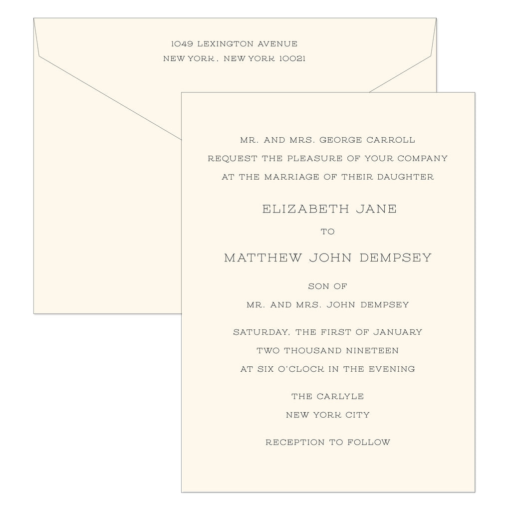 BASIC BESPOKE WEDDING INVITATION: MID-CENTURY ENGRAVED