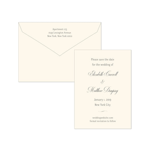BASIC BESPOKE SAVE THE DATE: CLASSIC ELEGANCE ENGRVED