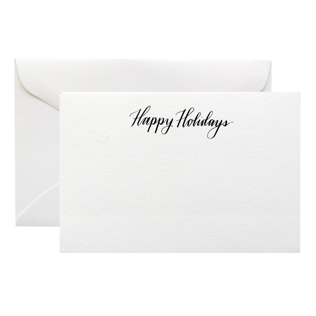 ENGRAVED CALLIGRAPHY HOLIDAY CARDS