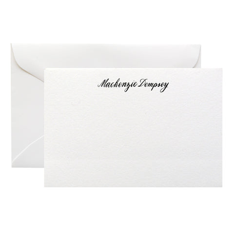 ENGRAVED CALLIGRAPHY ON #3 CORRESPONDENCE CARDS