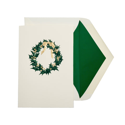 HOLLY RIBBON WREATH