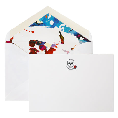 ROBERT GRAHAM SKULL ROSE CORRESPONDENCE CARDS