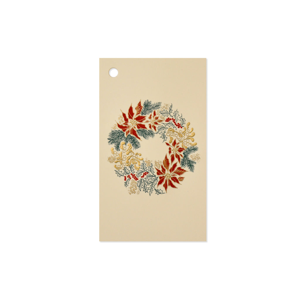 WREATH GIFT TAG