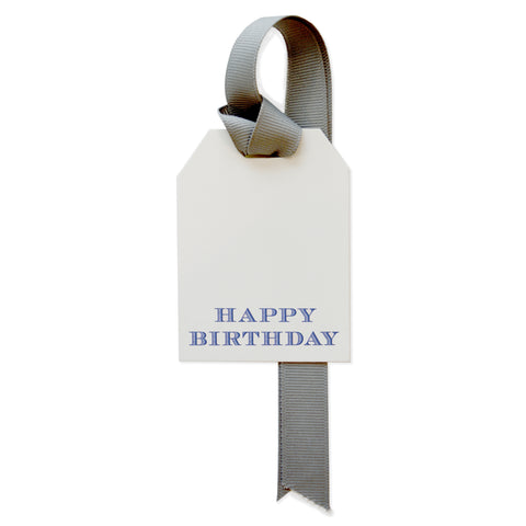 Happy BIrthday in Chevalier Gift Tag
