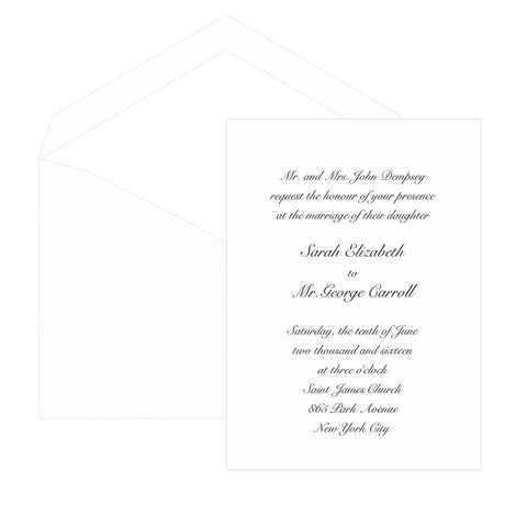 Our Embassy Invitation - Folded