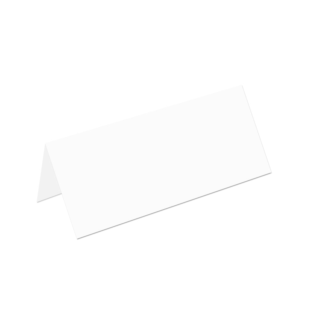 White Foldover Place Cards