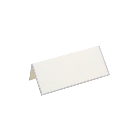 SILVER BORDERED FOLDOVER PLACE CARDS