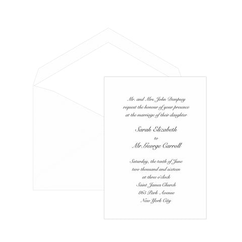 Our Classic Invitation - Folded