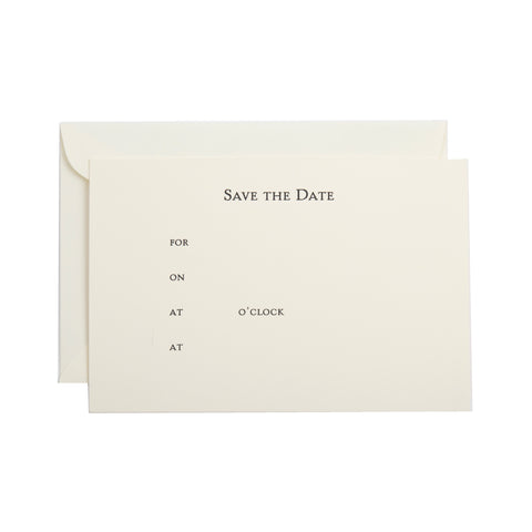 SAVE THE DATE FILL-IN INVITATION