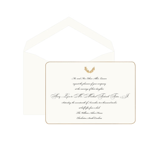 Motif Wedding Invitation
