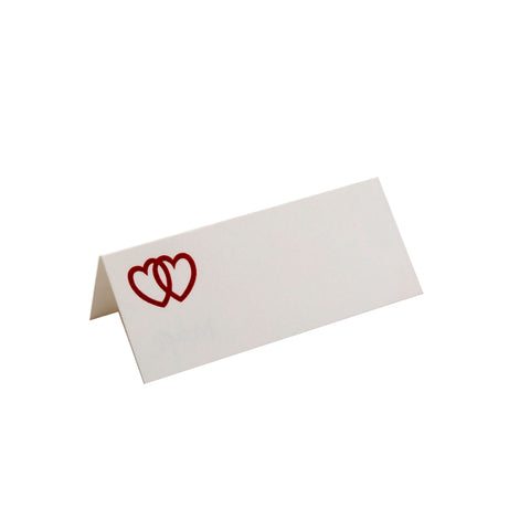 DOUBLE RED HEART FOLDOVER PLACE CARD