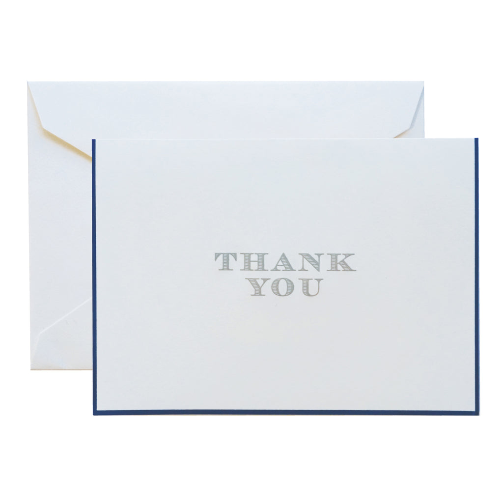 Thank You Foldover with Regent Blue Border