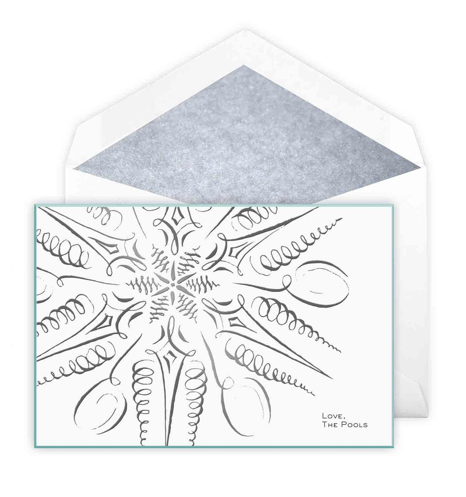 PERSONALIZED PEN & INK SNOWFLAKE