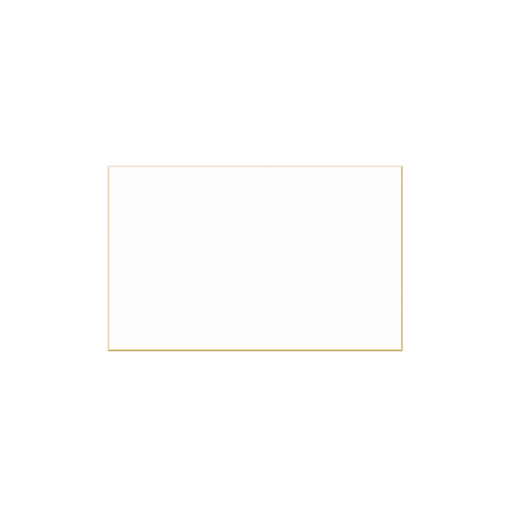 WHITE PLACE CARD WITH SQUARE CORNERS AND BEVELED EDGE (SEE MORE COLORS)