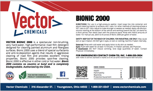 Bionic 2000 Pressure Wash Super Concentrate for Buildings and Vehicles