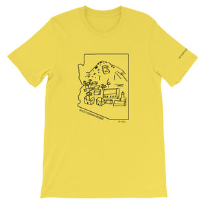 Bisbee B Hill | Crew Neck T-Shirt | Badly Drawn Bisbee