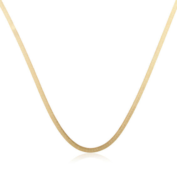 Herringbone chain necklace 18 karat gold