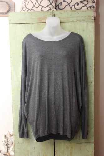 LONG DOLMAN SLV RAYON TOP