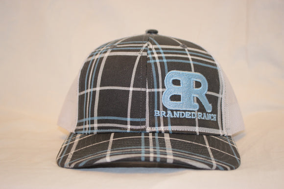 Branded Ranch Plaid Charcoal Snapback