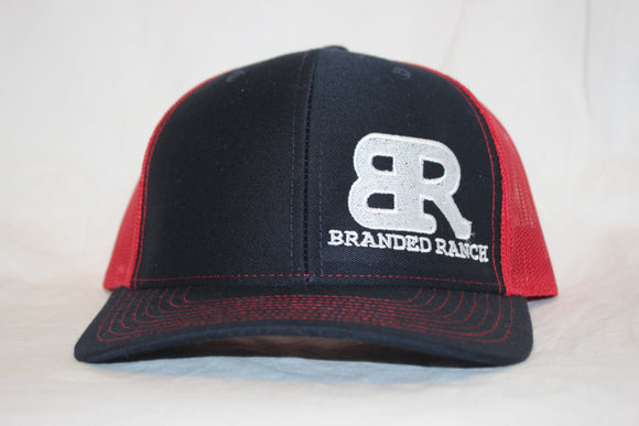 Branded Ranch Navy and Red Snapback