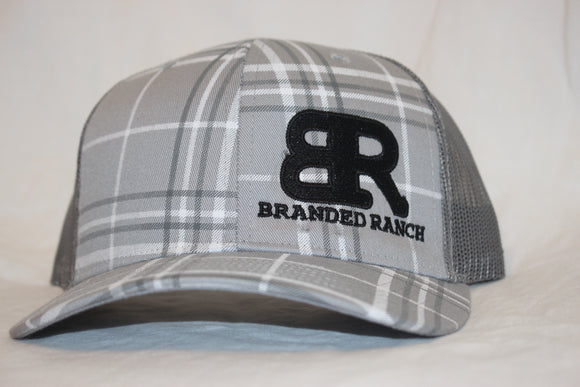 Branded Ranch Plaid Grey Snapback