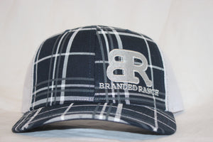 Branded Ranch Plaid Black Snapback