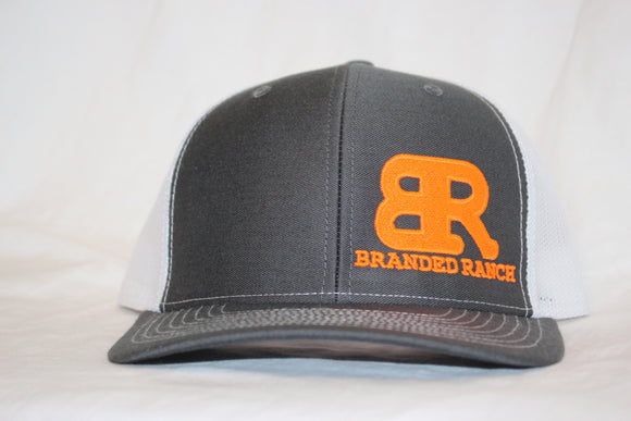 Branded Ranch Charcoal and White Snapback